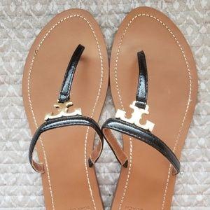 Tori Burch T Logo Sandals